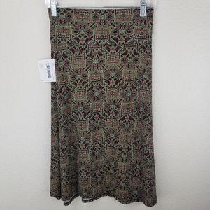 LuLaRoe Azure Olive Green Red Geometric Size XL